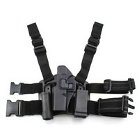 Tactical Glock Leg Holster Left Hand Paddle Thigh Belt Drop Pistol Gun Holster w/ Magazine Torch Pouch for Glock 17 19 22 23 31