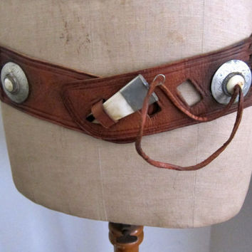 Vintage wild west cowgirl boho wide plaited leather by evaelena