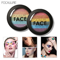 FOCALLURE New Baked Mars Prism Rainbow Highlighter Makeup Palette Cosmetic Blusher Shimmer Powder Contour Eyeshadow