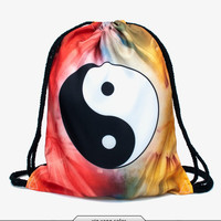 Yin Yang Drawstring Backpack/Bag