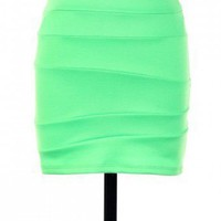 PARTY NEON STRIPED KNIT SKIRT-Skirts-Long Skirts,Mini Skirts,mid-lenth skirts,leather skirt,maxi skirt,pleated skirt,floral skirt,colorful skirts,a line skirt,silk skirt,plus size skirts,sexy skirts