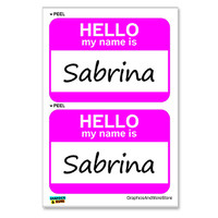 Sabrina Hello My Name Is - Sheet of 2 Stickers