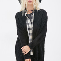 FOREVER 21 Oversized Cable Knit Cardigan