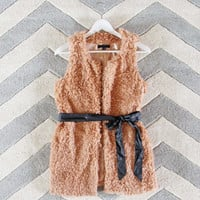 The Teddy Vest in Blush