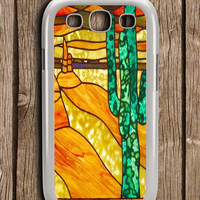 Cactus Stained Glass Samsung Galaxy S3 Case