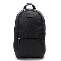 Gucci Nylon GG Guccissima Slim Backpack Travel Bag (Black)