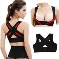 Adjustable Women's Back Support and Posture Corrector
