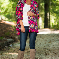 Double Crossed Cardigan, Pink