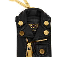 Moschino - Gold-tone leather jacket keychain