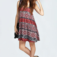 Lily Ethic Print Swing Dress