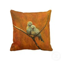 TaLiNs CaNaRiEs PRETTY  love bird Painting ART Throw Pillows from Zazzle.com