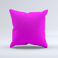 Solid Hot Pink V2  Ink-Fuzed Decorative Throw Pillow