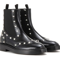 Indie Designs Balenciaga Inspired Embellished Leather Chelsea Boots