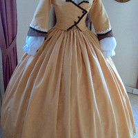 FOR ORDERS ONLY - Special Made to Fit You - 1800s Victorian Dress - 1860s Civil War Gown - Walking Traveling Suit - Bodice - Skirt