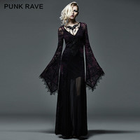 New Gothic Victorian Arwen Long Dress Retro Maxi Vampire Kera Lolita Clothing Q265