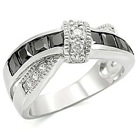 Mens Stainless Steel Rings TK1494 Stainless Steel Ring with AAA Grade CZ