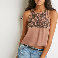 Ornate-Embroidered Tank