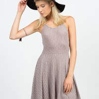 Soft Ribbed Halter Dress