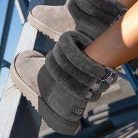 UGG New mini lady boots with fur collar