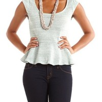 Bow-Back Hacci Peplum Top: Charlotte Russe