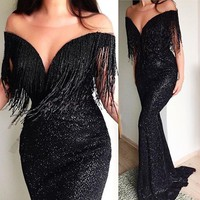 Fashion New Sexy V-collar Sleeveless Dress Long Skirt