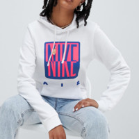 Nike 90S Hoody With Graphic Logo In White