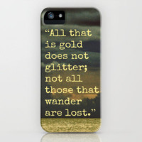 Be Golden, Be a Wanderer iPhone Case by Caleb Troy | Society6