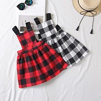 Perfect Plaid Overall Dress 2-6T