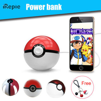 Cute Christmas Gifts Magic Ball Power bank for Poke GO 12000mAh Battery Charger with LED Projector for iphone 6s 7 samsung xiomi