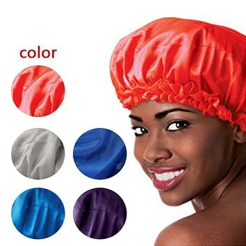 5 Colors Satin Sleeping  Bonnet Cap to Protect Hair from Damage and Dryness