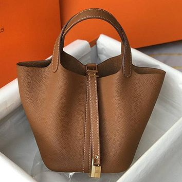 Hermes High Quality Women Fashion Handbag Bucket Bag