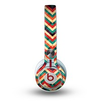 The Abstract Colorful Chevron copy Skin for the Beats by Dre Mixr Headphones