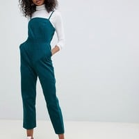 ASOS DESIGN cord jumpsuit in green | ASOS