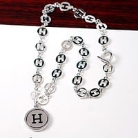 Hermes Exaggerated Personality Letter H Necklace Clavicle Chain Accessories Lady
