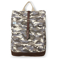 TOMS Charcoal Camo Canvas Adventure Backpack