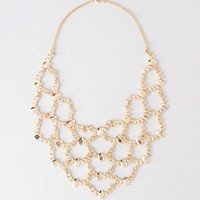 MONTROUGE SCALLOPED STATEMENT NECKLACE