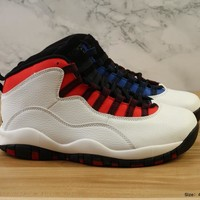Nike  Air Jordan 10 Retro AJ10 White /Blue/Red   Basketball Sneaker
