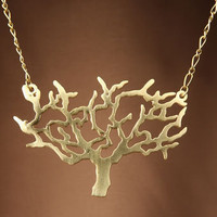 Zad Gold Matte Tree Necklace - $15.00 : Fashion Necklaces at LuLus.com