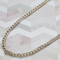 Gold Layered Men Curb Basic Necklace, by Folks Jewelry