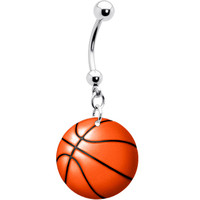Basketball Belly Ring   Body Candy Body Jewelry
