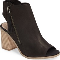 Sole Society Arizona Block Heel Peep-Toe Bootie (Women) | Nordstrom