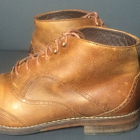 Wolverine Wesley 1000 Mile Wingtip Chukka Brown Leather Boots Men's Size 10
