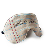 $18.00 eyemask writer's block adjustable night mask by squirrellicious