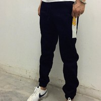 College tide brand THRASHER flame long trousers men and velvet autumn and winter sports pants Tagre™
