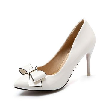Ladies Stiletto High Heel Pointed Toe Bridal Shoes Woman Pumps