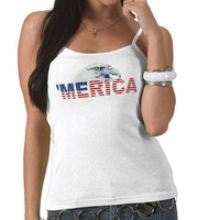 'MERICA American Bald Eagle T-shirt from Zazzle.com