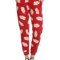 Disney Lilo & Stitch Hawaiian Flower Girls Jogger Pants