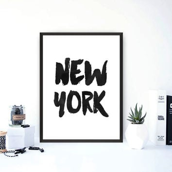 new york print,black and white art,typographyc print,modern wall decor,home decor,office decor,instant download