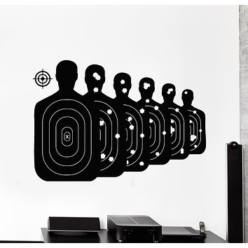 Vinyl Wall Decal Targets For Shooting Game Sport Hunting Club Stickers Mural (g2823)