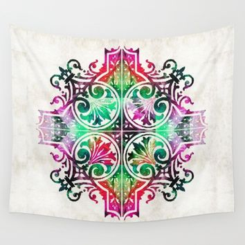 Bright Pattern Art - Color Fusion Design 9 By Sharon Cummings Wall Tapestry by Sharon Cummings